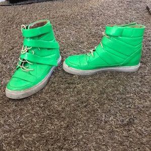 Jeffery Campbell neon green high top sneaker